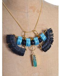 Kirsty Ward - Light Blue & Black Pendant - Lyst