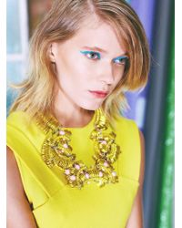 Kirsty Ward - Embellished Yellow Pendant - Lyst