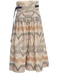 Eudon Choi - Paloma Cream Embroidered Culottes - Lyst