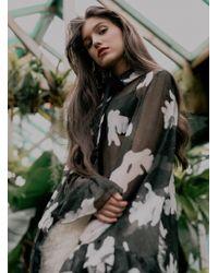 Florence Bridge - Eva Silk Ruffle Shirt - Back - Lyst
