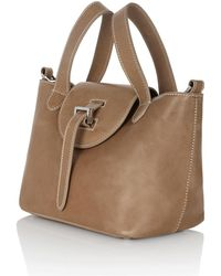 meli melo - Mini Thela In Light Tan With Contrast Stitching - Lyst