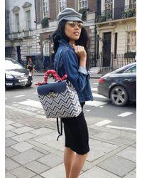 Jam Love London - Hillside Urban Backpack In Blue/chevron - Lyst