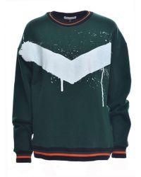 Simeon Farrar - Green Sweatshirt/white Paint - Lyst