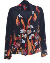 Rockins - Pyjama Shirt In Flower And Flames (black) - Lyst
