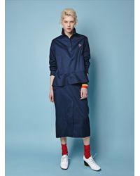 J.won - Patch Pocket Denim Skirt - Lyst