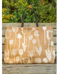 Simeon Farrar - Hessian Large Tote With Tulips - Sold Out - Lyst