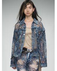 Faustine Steinmetz - Yarn Painted Transparent Jacket - Last One - Lyst