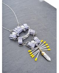 Kirsty Ward - Embellished Pewter Necklace - Lyst