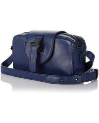 meli melo - Micro Box Cross Body Bag In Midnight Blue - Lyst