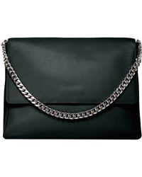 Gvyn - Yael Black Leather Bag With Silver (last One) - Lyst