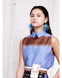 Kirsty Ward - Light Blue Cluster Earrings - Lyst