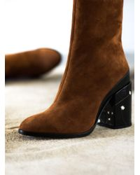 Dear Frances - Spirit Boot In Copper Suede - Lyst