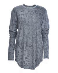 Simeon Farrar | Xtra Long Sleeves Grey Star Tee | Lyst