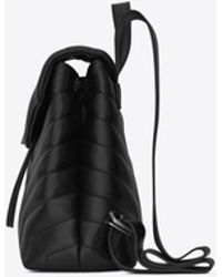 """Saint Laurent - Loulou Small Backpack In Matelassé """"y"""" Leather - Lyst"""