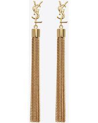 Saint Laurent Gold-plated Tassel Earrings 9kNSNRs1
