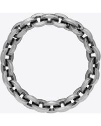 Saint Laurent - Chaines Link Bangle In Silver-tone Metal - Lyst