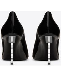 Saint Laurent - Opyum Pumps In Patent Leather With Silver Tone Heel - Lyst