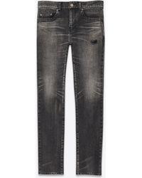 59c05ce2e90e Saint Laurent - Jean skinny en denim stretch tokyo black - Lyst