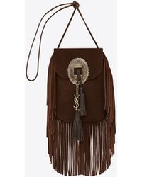 Saint Laurent - Anita Fringed Leather Cross-Body Bag  - Lyst