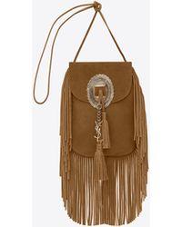 Saint Laurent - Anita Leather Fringed Shoulder Bag - Lyst
