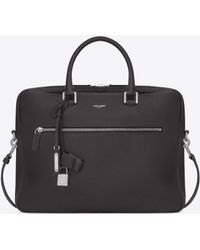 Saint Laurent - Sac De Jour Briefcase In Grained Leather - Lyst