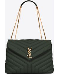 "Saint Laurent - Loulou Medium In Matelassé ""y"" Leather - Lyst"