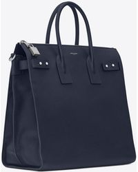 9f9ab5a0bfb Saint Laurent Sac De Jour Men in Blue for Men - Lyst
