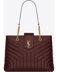 89d4e7104384 Saint Laurent - Loulou Large Shopping Bag In Matelassé