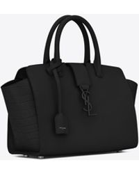 Saint Laurent - Baby Monogram Downtown Cabas Leather Tote Bag - Lyst