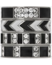 Saint Laurent - Set Of Four Smoking Rings - Lyst