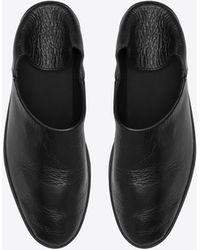 Saint Laurent - Fes Convertible Slipper In Black Leather - Lyst