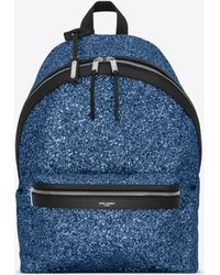 Saint Laurent - City Backpack In Glitter - Lyst