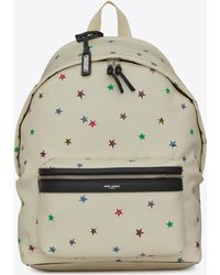 Saint Laurent - City Canvas Backpack With Stars Print - Lyst