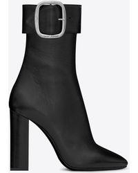 Saint Laurent - Joplin 105 Ankle Boots - Lyst
