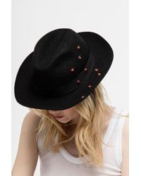Zadig & Voltaire - Alabama Coeur Hat - Lyst