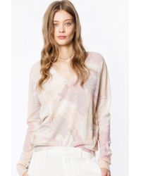 Zadig & Voltaire - Pull brume cachemire camou - Lyst