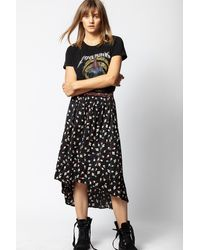 Zadig & Voltaire - Josline Flower Vintage Skirt - Lyst