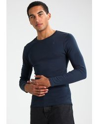 d84d3ad7483b4a Lyst - G-star raw Tomer 3d Pocket R T L s Long Sleeved Top in Blue ...