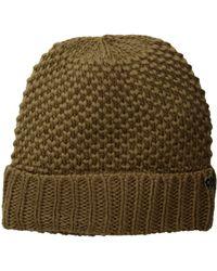 Lauren by Ralph Lauren - Birdseye Texture Hat (black) Cold Weather Hats - Lyst
