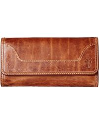 Frye - Melissa Wallet (dark Brown Antique Pull Up) Wallet Handbags - Lyst