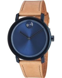 Movado - Bold Evolution - 3600505 (blue/light Brown) Watches - Lyst