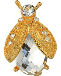 Kenneth Jay Lane - Gold Rhine/faceted Crystal Bee Pin (gold/red) Brooches Pins - Lyst
