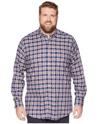 5b69c7a9299031 Nautica Wear To Work Short Sleeve Large Plaid Woven Shirt in Blue ...