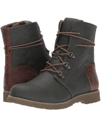 The North Face - Ballard Lace Ii Coated Canvas (burnt Olive Green/cub Brown) Women's Boots - Lyst