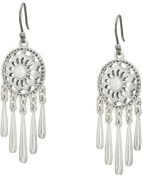 Lucky Brand - Openwork Pearl Fringe Drop Earrings - Lyst