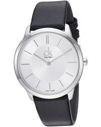CALVIN KLEIN 205W39NYC - Minimal Watch - K3m211c6 - Lyst
