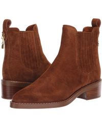 5dfa35849626b COACH - Bowery Chelsea Bootie (black Leather) Women s Boots - Lyst
