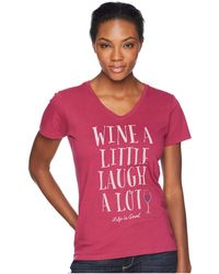 8dc207fe522cb6 Free People. Eyelet You A Lot Top In White. $78 $43 (45% off). REVOLVE ·  Life Is Good. - Laugh A Lot Crusher Vee (wild Cherry) Women's T