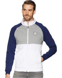 Calvin Klein - Color Block Mock Neck Full Zip Sweater (soot Marl Heather) Men's Sweater - Lyst