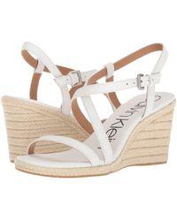 Calvin Klein - Bellemine Espadrille Wedge (platinum White) Women's Wedge Shoes - Lyst